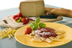 Sapori d'Italia. Typical Ingredients of Italian cuisine Royalty Free Stock Photography