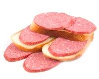 Saporito del panino cucinato affumicato Immagini Stock
