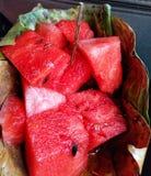 Saporito e Juice Watermelon Close sulla foto fotografie stock