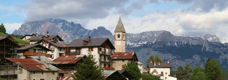 Sappade - Alpes - Dolomiti - l'Italie Photo stock