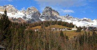 Sappade Dolomiti意大利 免版税图库摄影