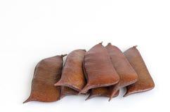 Sappan seeds. (Caesalpinia sappan Linn.) Stock Photo