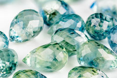 Sapphire briolettes Royalty Free Stock Photo