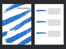 Sapphire Brochure Template Foto de archivo libre de regalías