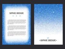 Sapphire Brochure Template Fotografía de archivo
