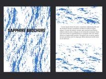 Sapphire Brochure Template Foto de archivo