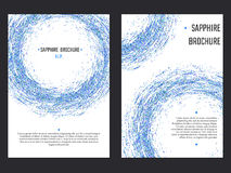 Sapphire Brochure Template Imagen de archivo libre de regalías