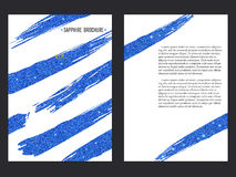 Sapphire Brochure Template Royalty Free Stock Photo