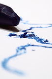 Sapphire crayon Stock Image