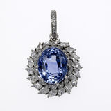 Sapphire and Diamond Pendant Stock Photos
