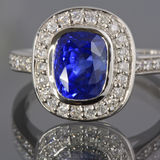 Sapphire and Diamonds ring Stock Images