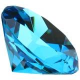 Sapphire Gemstone. Macro closeup isolated on white background royalty free stock images