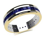 Sapphire gold ring Stock Photos