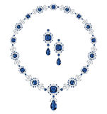 Sapphire jewelry Royalty Free Stock Images