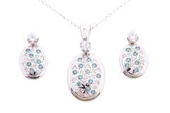 Sapphire Jewelry set Royalty Free Stock Photos