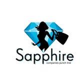 Sapphire Jewelry Shopping Stock Photo