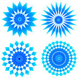 Sapphire jewels. Four sapphire jewel design patterns - VECTOR Royalty Free Stock Images