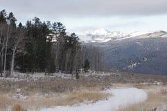 Sapphire Mountains en Montana en invierno fotografía de archivo