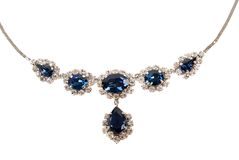 Free Sapphire Necklace Royalty Free Stock Photography - 2209737