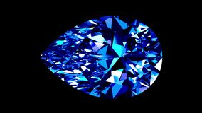Sapphire Pear Cut collegato Alfa metallina royalty illustrazione gratis