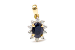 Sapphire pendant Royalty Free Stock Image