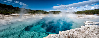 Sapphire Pool. In Biscuit Basin in Yellowstone National Park Stock Images