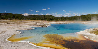 Sapphire Pool at Biscuit Basin stock images