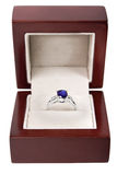 Sapphire ring in a box Royalty Free Stock Photo