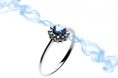 Sapphire Ring Royalty Free Stock Photo