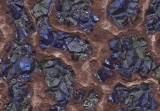 Sapphire Stones Discovered Inside a Mine Royalty Free Stock Photos
