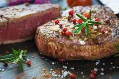 Sappig filetlapje vlees stock foto's