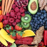 Sappig Fruit en Plantaardige Achtergrond royalty-vrije stock foto