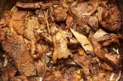 Sappig gekookt vlees royalty-vrije stock afbeelding
