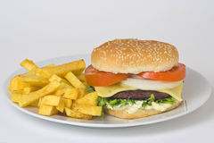 Sappig hamburgervlees Royalty-vrije Stock Afbeelding