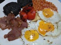 Sappig volledig Engels ontbijt Stock Foto