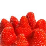 Sappige aardbeien stock foto's
