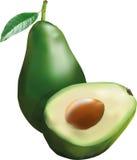 Sappige avocado Stock Afbeelding
