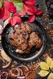 Sappige gebraden vlees Georgische keuken Royalty-vrije Stock Afbeelding