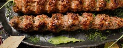 Sappige gebraden vlees Georgische keuken Stock Foto's