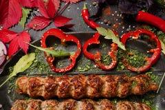 Sappige gebraden vlees Georgische keuken Stock Fotografie