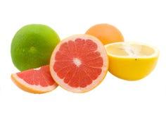 Sappige grapefruit Royalty-vrije Stock Foto's
