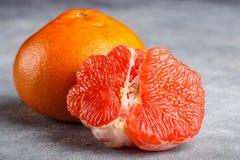 Sappige grapefruit dichte omhooggaand Royalty-vrije Stock Afbeelding