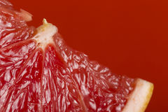 Sappige grapefruitplak stock foto's