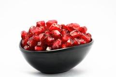 Sappige kop Granaatappels, verse vitamine, dessert Stock Afbeelding