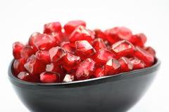 Sappige kop Granaatappels, verse vitamine, dessert Stock Afbeeldingen