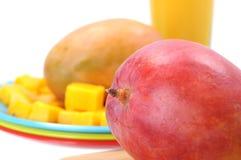Sappige mango royalty-vrije stock afbeeldingen