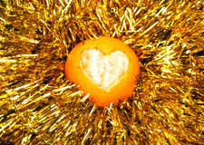 Sappige oranje mandarijn Royalty-vrije Stock Fotografie