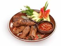 Sappige plakken van vlees Stock Fotografie