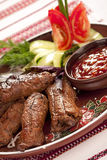 Sappige plakken van vlees Royalty-vrije Stock Afbeeldingen