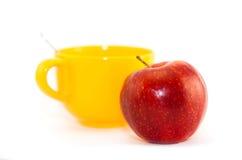 Sappige rijpe rode appel Stock Foto's